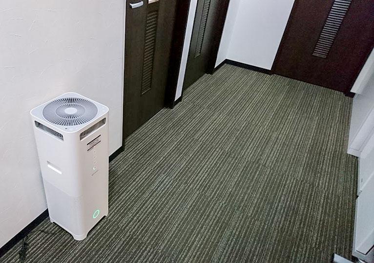バーチャルオフィスの空気清浄機