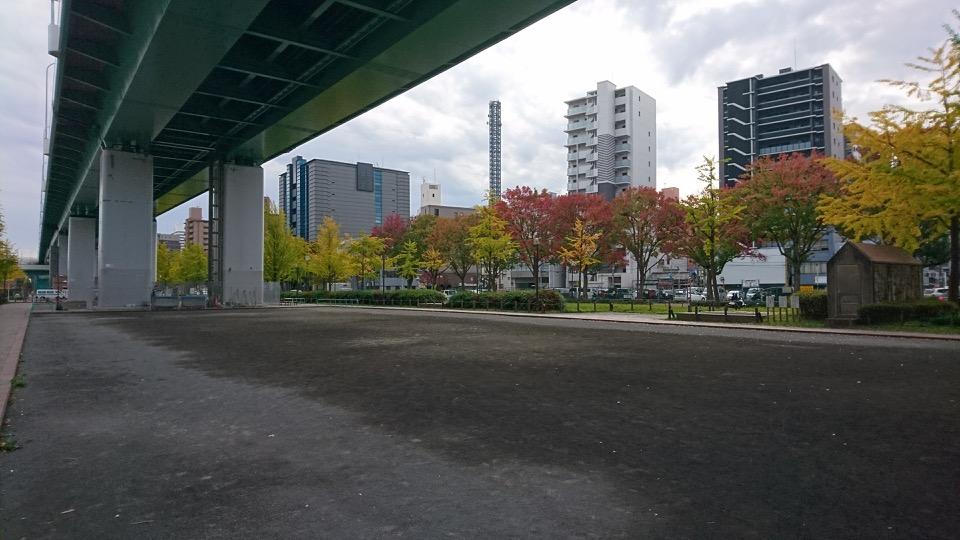 バーチャルオフィス近くの運動場