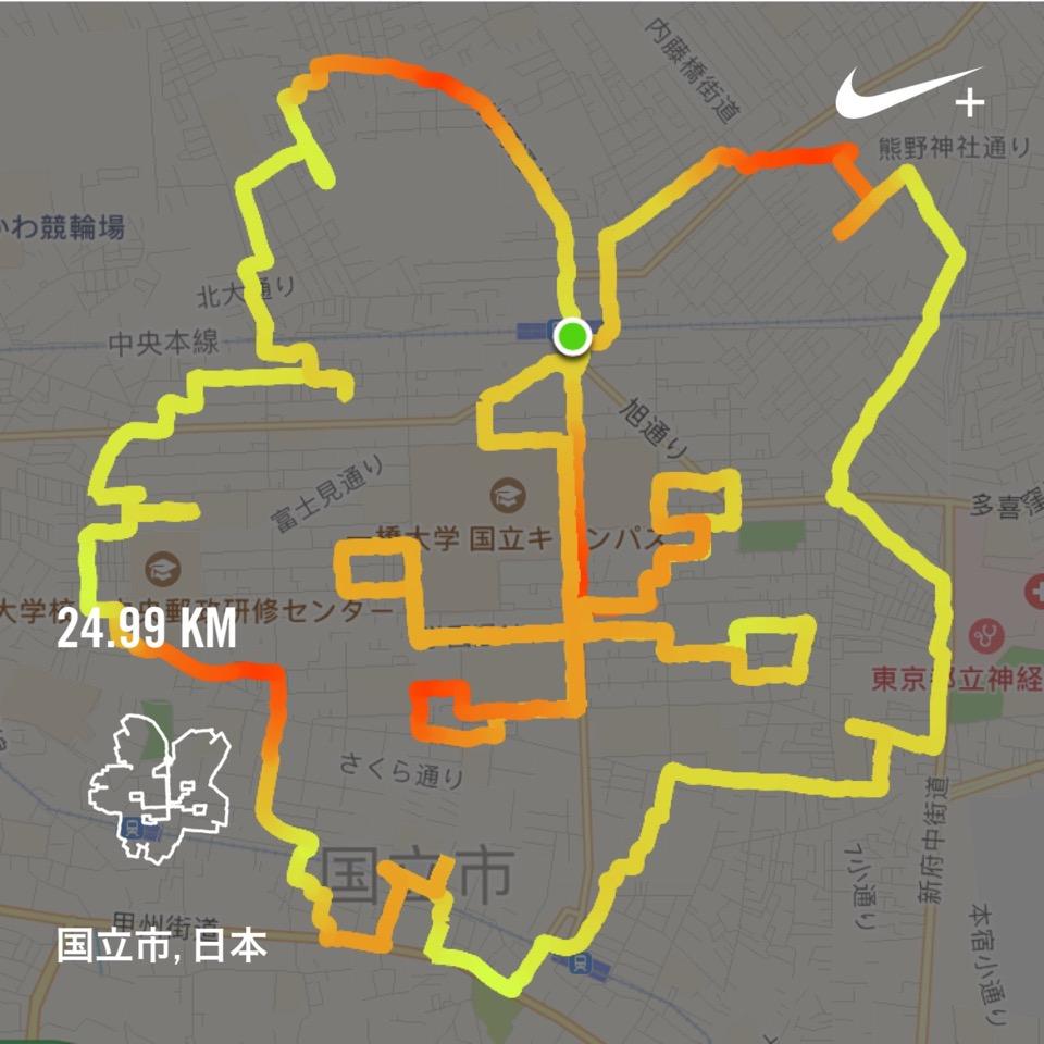 桜のランニングアート