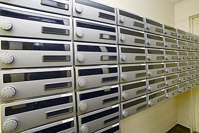 レンタルオフィスの郵便ポスト