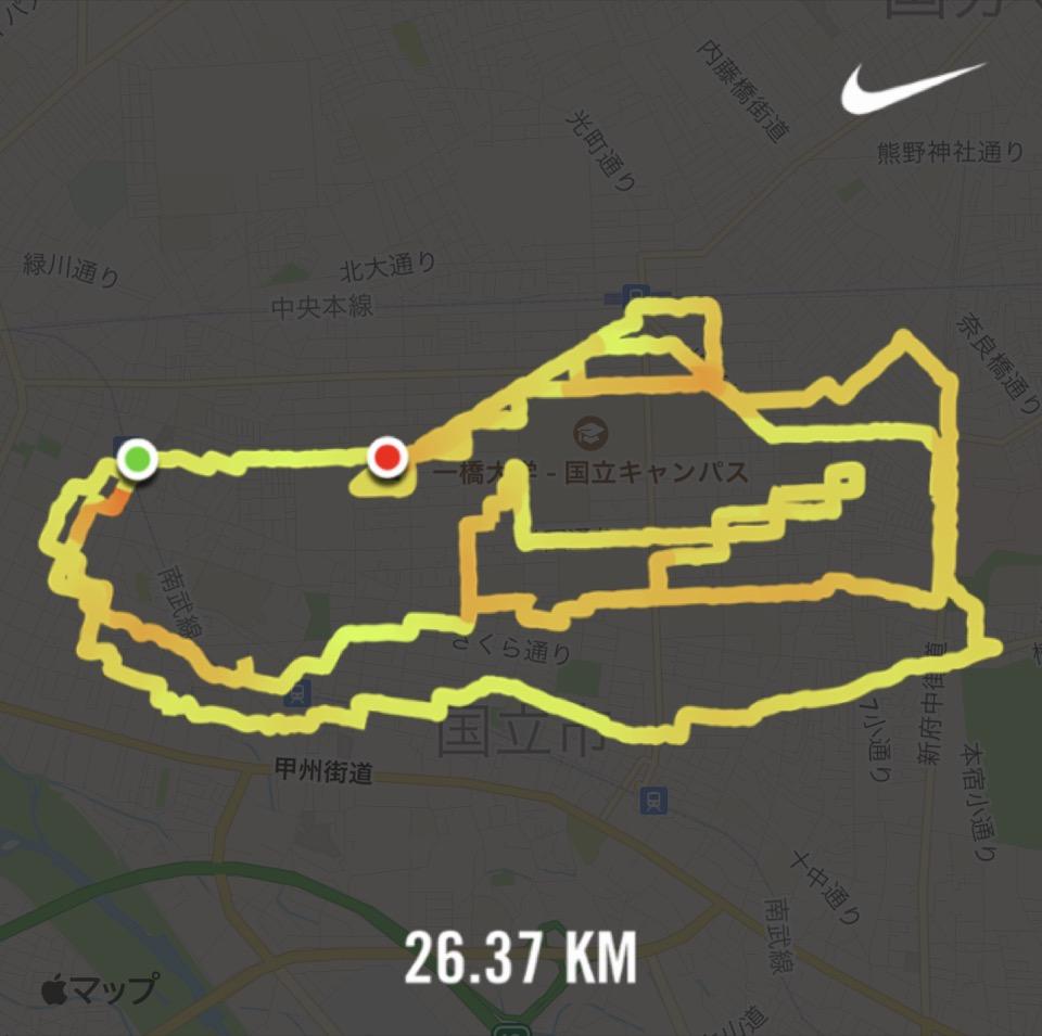 Nike Run Clubのランニングルート
